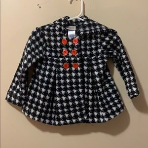 Baby girls 12 month plaid coat great for holidays